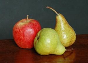 ¿Pera o manzana? Difícil elección...